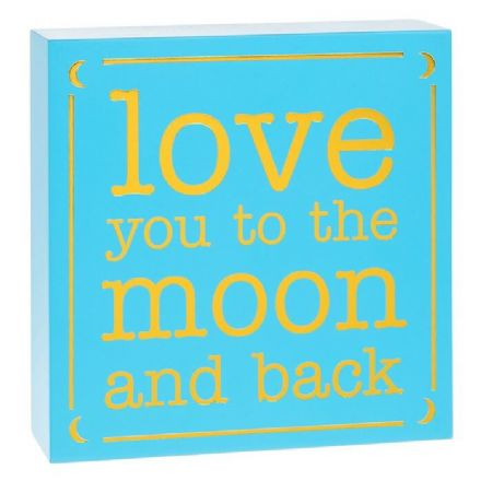 Small Square Plaque Moon